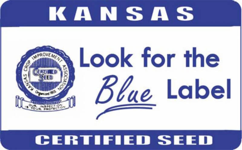 Kansas Blue Certified Seed Label